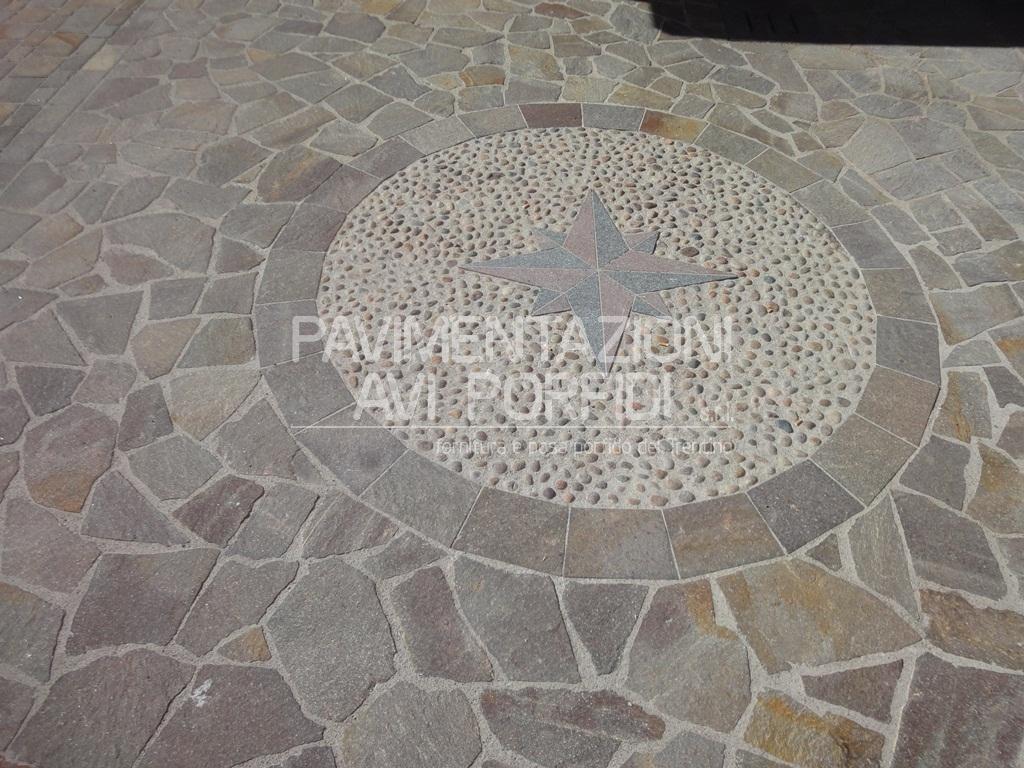 Pavimentazioni avi porfidi disegni e decori in porfido - Decori per pavimenti ...
