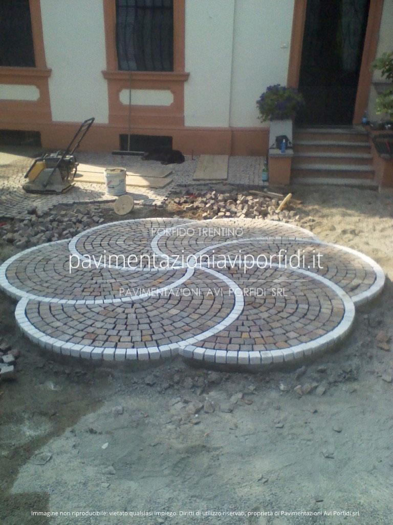 Eccezionale Pavimentazioni Avi Porfidi :: disegni e decori in porfido VM88