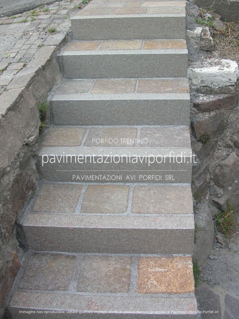 scale per esterni alzate di porfido