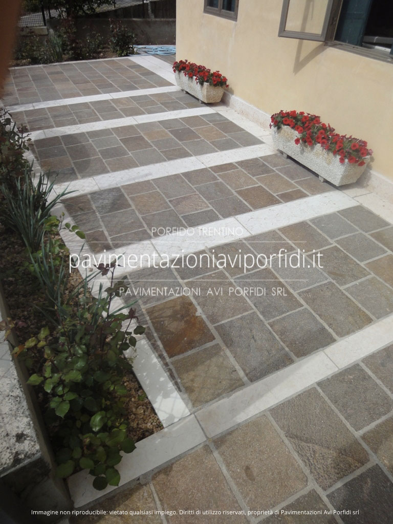 Pavimentazione Giardino In Pietra pietra di prun (o della lessinia), alternativa al porfido