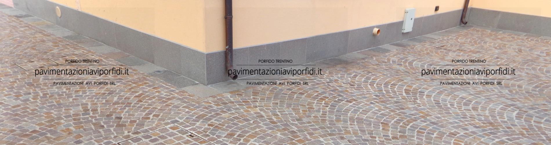 Battiscopa Staccato Dal Pavimento pavimentazioni avi porfidi zoccolino in porfido per esterni