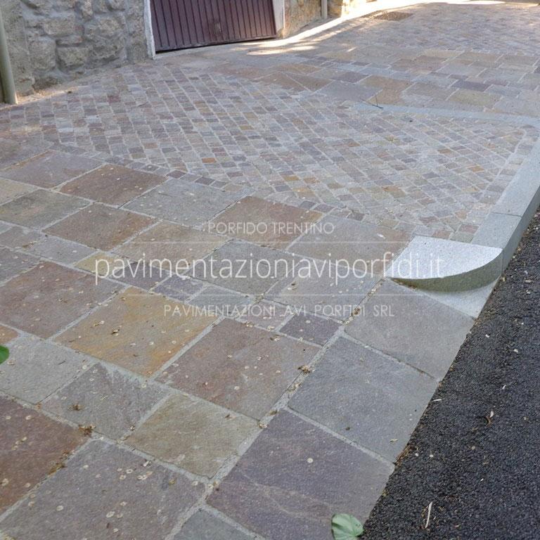 Pavimenti per marciapiedi esterni good piastrella da - Piastrelle di porfido prezzi ...